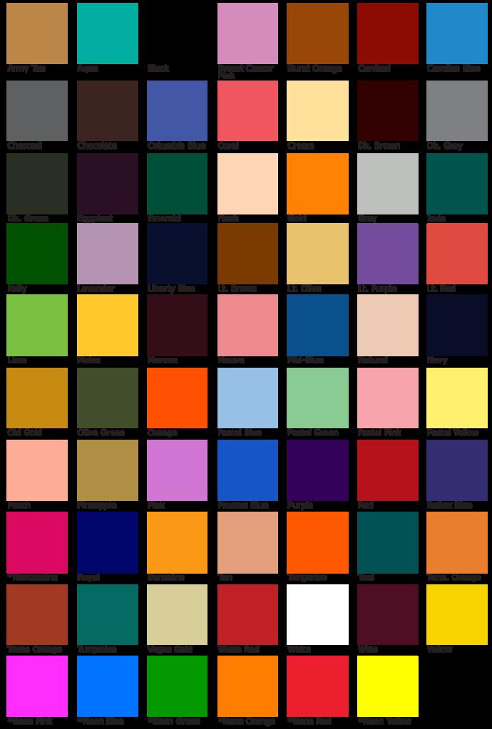 Colors Chart Ceriunicaasl